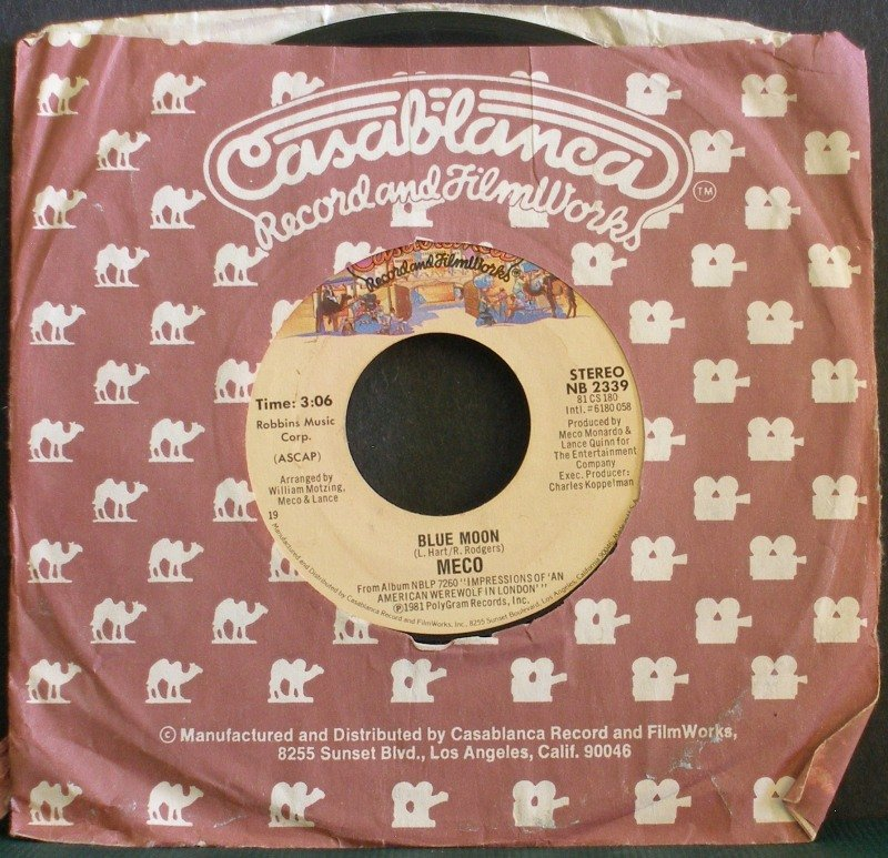 MECO~Blue Moon / You Gotta Hurt Me~ Casablanca NB 2339 1981, 45