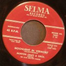 MORTON CRAFT~Moonlight in Vermont / Perdido ~ Selma 1001 45