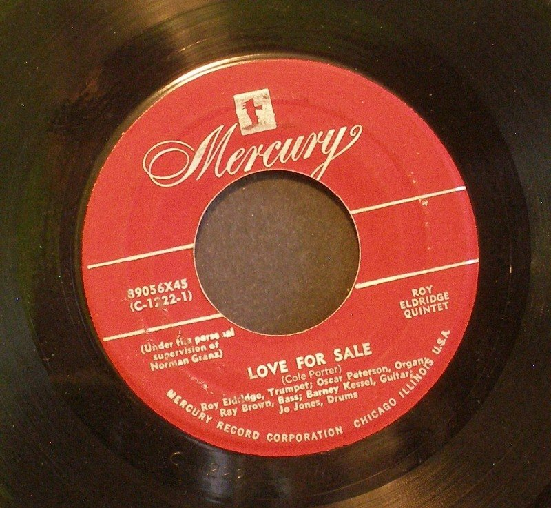 ROY ELDRIDGE QUINTET~Love for Sale / Dale's Wail~ Mercury 89056X45 1954, 45