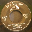 SKEETER DAVIS~How Much Can a Lonely Heart Stand~ RCA Victor 47-8288 1963, 45