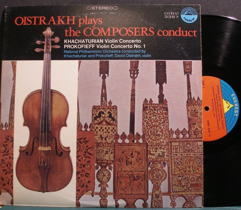 DAVID OISTRAKH~Oistrakh Plays the Composers Conduct~Everest 3367 LP