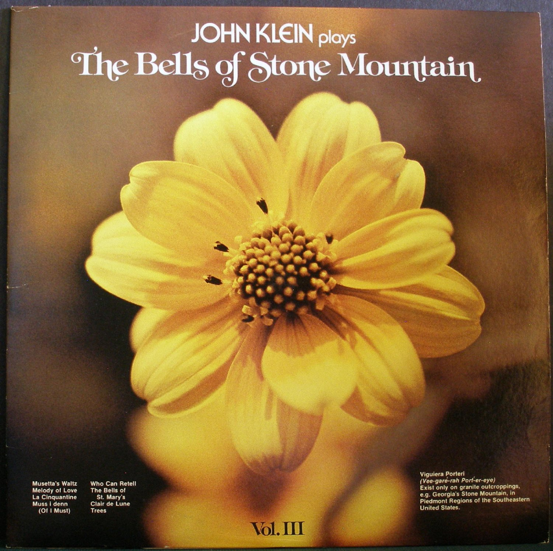 JOHN KLEIN~The Bells of Stone Mountain, Vol. III~Allentown Record Co 103SM LP