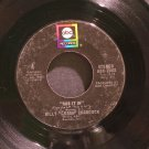 BILLY 'CRASH' CRADDOCK~Rub it in / It's Hard to Love a Hungry, Worried Man~ ABC ABC-11437 1974, 45