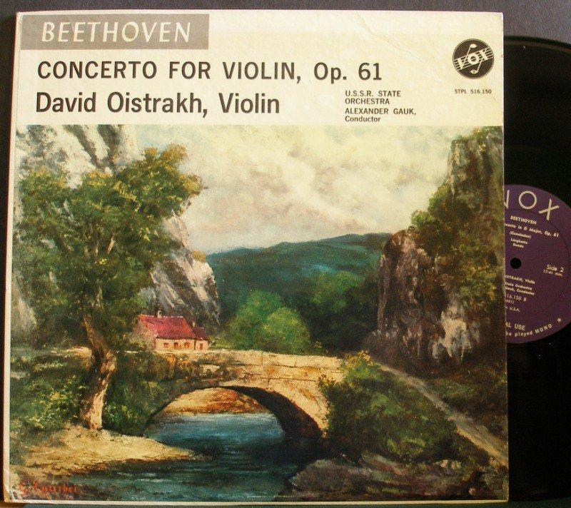 DAVID OISTRAKH~Beethoven: Concerto for Violin, Op. 61~VOX STPL 516.150 LP