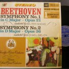 MICHAEL GIELEN~Beethoven: Symphony Nos. 1 & 2~Audio Fidelity FCS 50,021 LP
