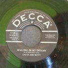 CHUCK & BETTY~Walking in My Dreams/ Win or Lose~ Decca 9-30875 1959, 45