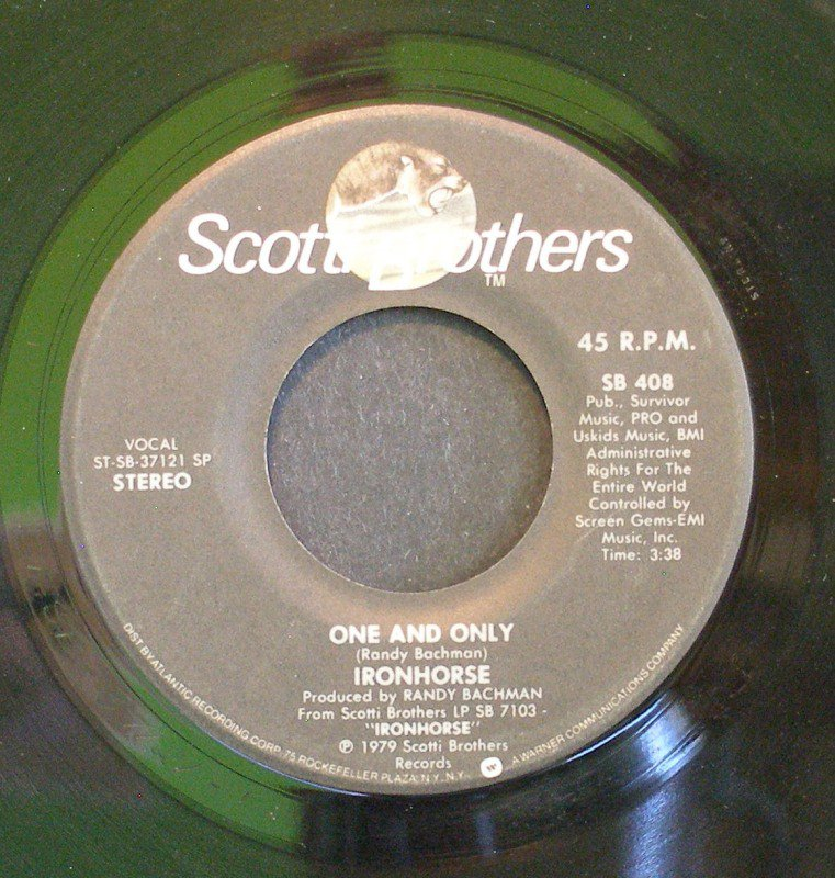 IRONHORSE~One and Only / She's Got It~ Scotti Bros. SB 408 1979, 45