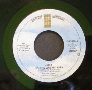 JELLY~No One Like My Baby / Broken Man~ Asylum E-45388 1977, 45