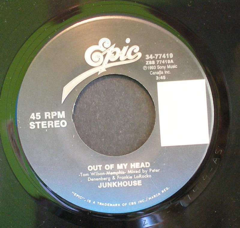 JUNKHOUSE~Out of My Head / The Buffalo Skinner~ EPIC 34-77419 1993, 45