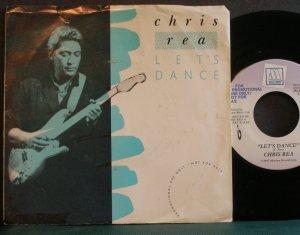 CHRIS REA~Let's Dance~ Motown 1900MF 1987, PROMO 45 VG++
