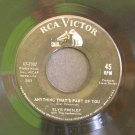 ELVIS PRESLEY~Good Luck Charm / Anything That's Part of You~ RCA Victor 47-7992 1962, 45