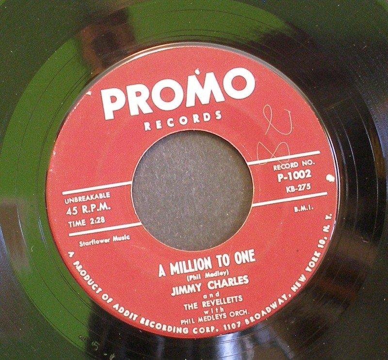 JIMMY CHARLES~A Million to One / Hop Scotch Hop~ Promo P-1002 1960, 45