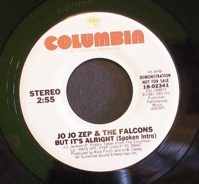 JO JO ZEP~But it's Alright~ Columbia 18-02341 1981, PROMO 45