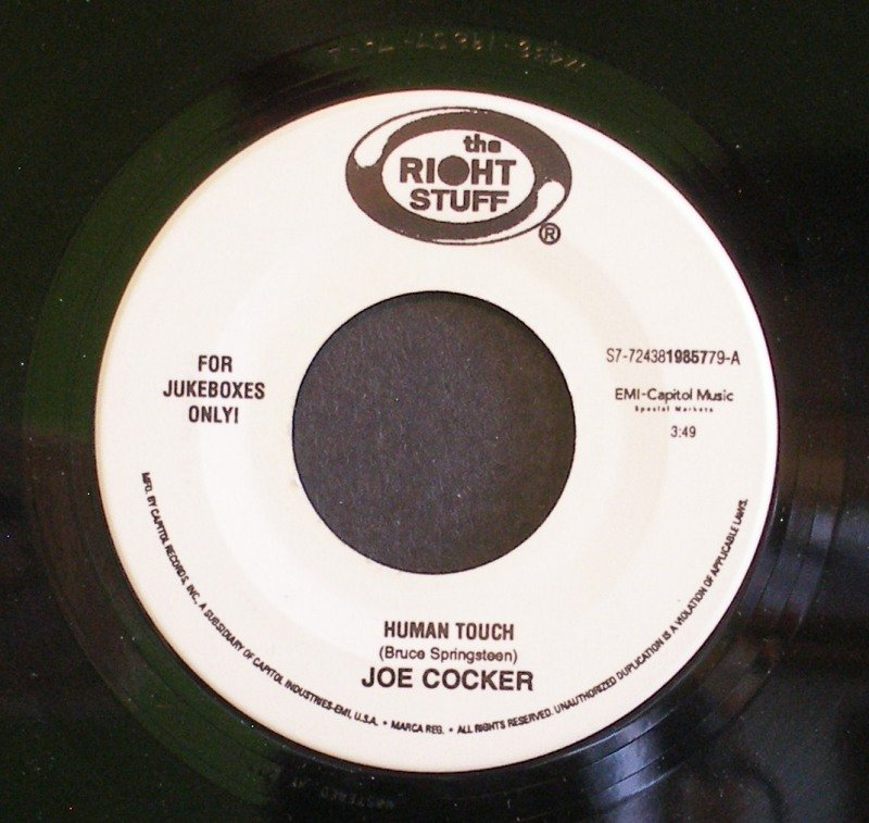 JOE COCKER~Human Touch / One Step Up~ The Right Stuff 19857 45