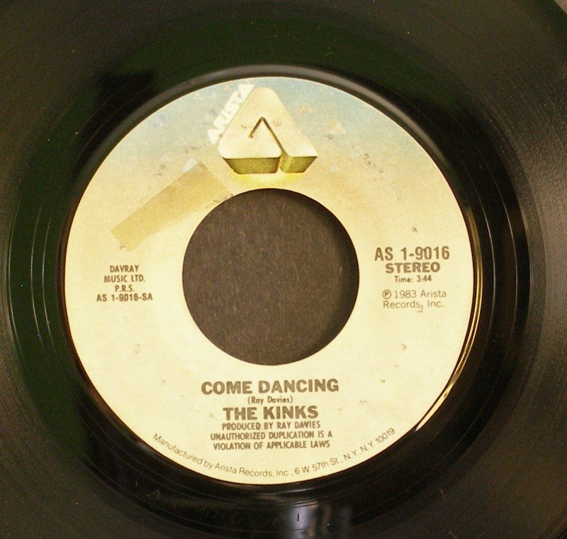KINKS~Come Dancing / Noise~ Arista AS 1-9016 1983, 45