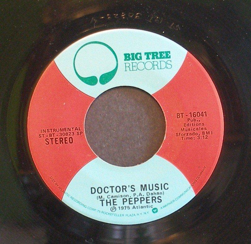 PEPPERS~Doctor's Music / Velvet Moon~ Big Tree BT-16041 1975, 45