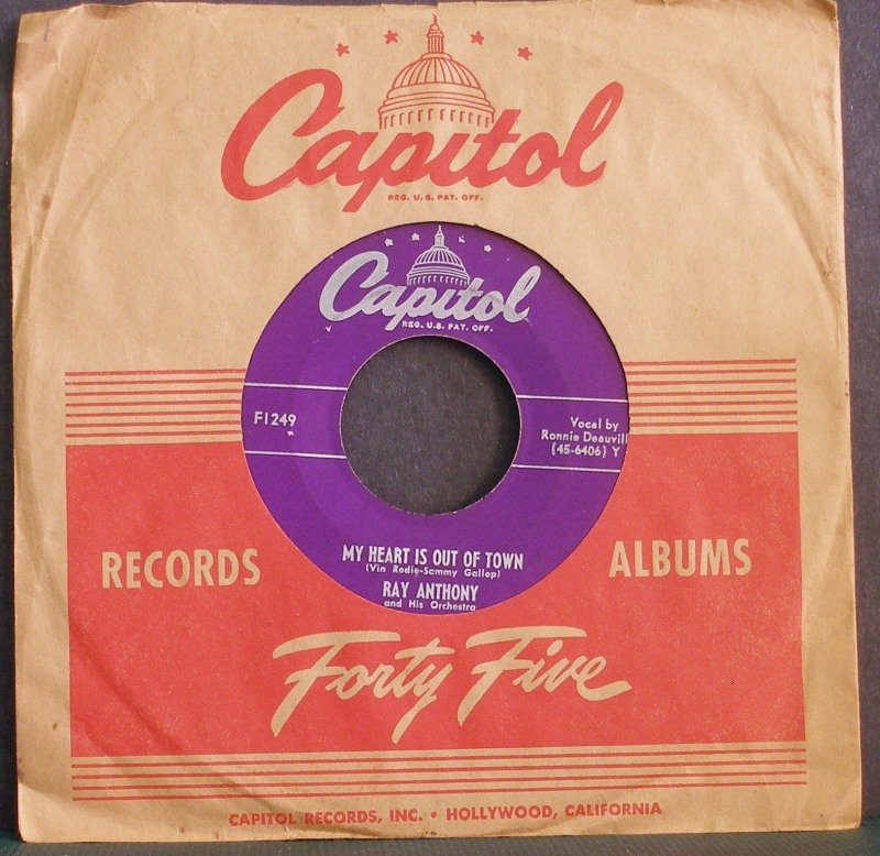 RAY ANTHONY~Harlem Nocturne / My Heart is Out of Town~ Capitol F1249 45