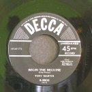 TONY MARTIN~Begin the Beguine / September Song~ Decca 9-25018 1950, 45