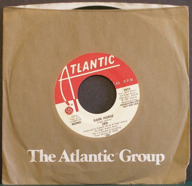ZED~Dark Horse~ Atlantic 3825 1981, PROMO 45