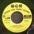 ART MOONEY~Autumn Sunset / Saw My Baby on TV~ MGM K12703 1958, PROMO 45