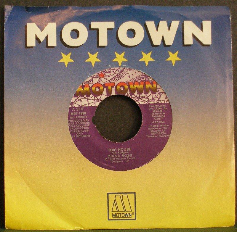 DIANA ROSS~This House / Paradise~ Motown MOT-1998 1989, 45