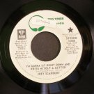 JOEY SCARBURY~I'm Gonna Sit Right Down and Write Myself a Letter~ Big Tree 16008 PROMO 45