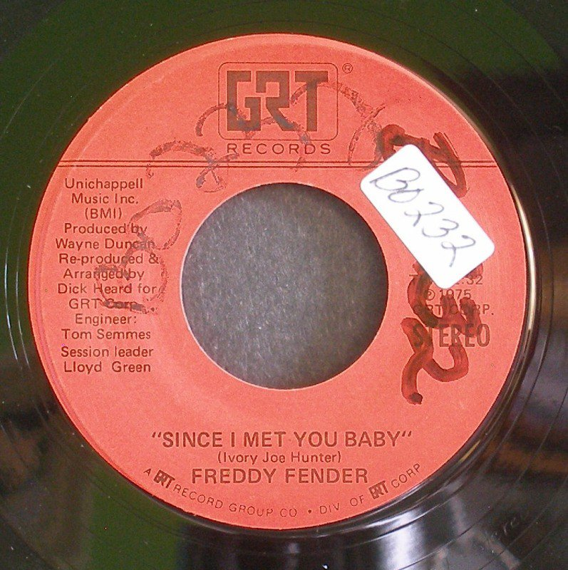 FREDDY FENDER~Since I Met You Baby / Little Mama (Smooth Label)~ GRT GRT-033 1974, 45