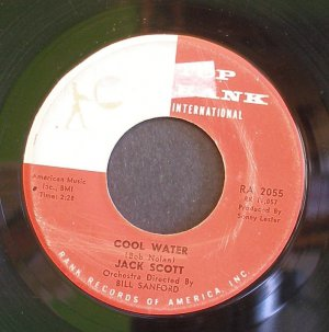 JACK SCOTT~Cool Water / It Only Happened Yesterday~ Top Rank International RA 2055 1960, 45