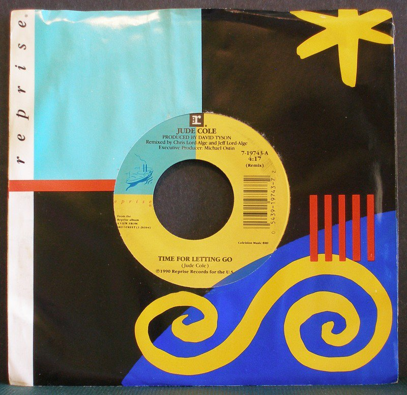 JUDE COLE~Time for Letting Go / Prove Me Wrong~ Reprise 7-19743 1990, 45