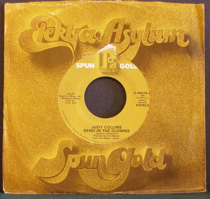 JUDY COLLINS~Send in the Clowns / Angel, Spread Your Wings~ Elektra E-45076 45