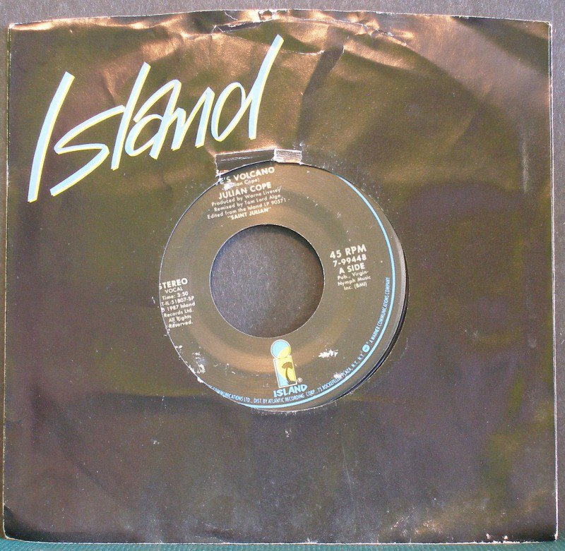 JULIAN COPE~Eve's Volcano / Almost Beautiful Child~ Island 7099448 1987, 45