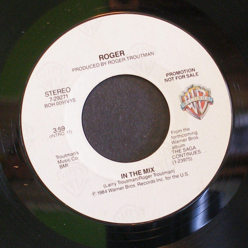 ROGER~In the Mix~ Warner Bros. 7-29271 1984, PROMO 45