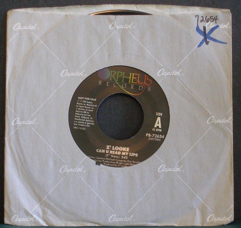 Z'LOOKE~Can U Read My Lips~ Orpheus PB-72654 1983, PROMO 45