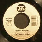 ALEXANDER O'NEAL~What's Missing / Are You~ Tabu ZS4 05850 1985, 45