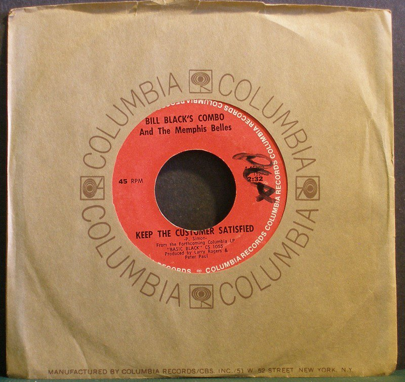 BILL BLACK'S COMBO~Keep the Customer Satisfied / One Five One Eight Chelsea~ Columbia 45162 1970 45
