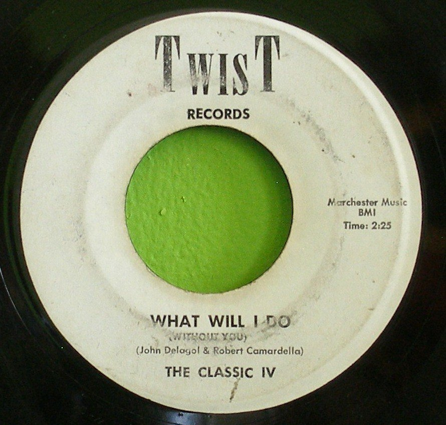 CLASSIC IV~What Will I Do / Island of Paradise~ Twist 1001 / 1002 1962, 45