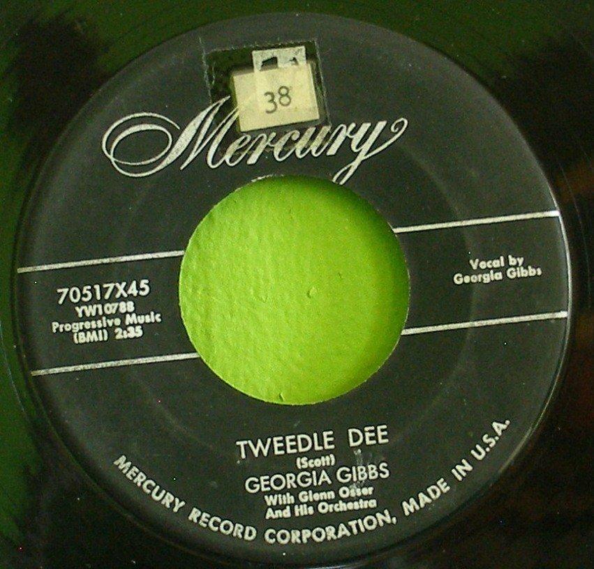GEORGIA GIBBS~Tweedle Dee / You're Wrong, All Wrong~ Mercury 70517X45 1954, 45
