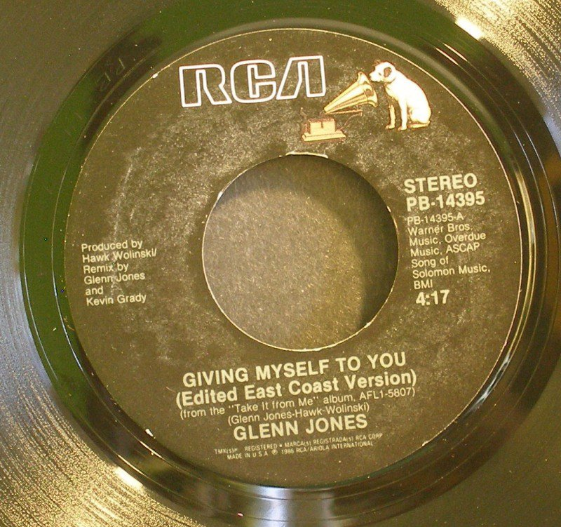 GLENN JONES~Giving Myself to You / Set the Night on Fire~ Rca PB 14395 1986, 45