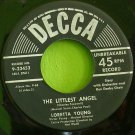 LORETTA YOUNG~The Littlest Angel, Record 2~ Decca 9-23453 1950, 45