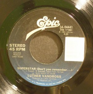 LUTHER VANDROSS~Superstar / I Wanted Your Love~ EPIC 34-04441 1983, 45
