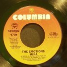 THE EMOTIONS~Smile~Columbia 10791 (Disco) VG+ 45