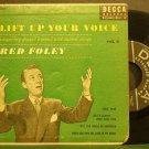 RED FOLEY~Lift Up Your Voice, Vol. 2~Decca 2185 (Gospel) Rare 45 EP