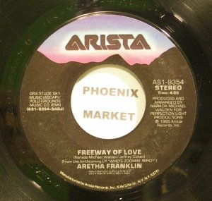ARETHA FRANKLIN~Freeway of Love~Arista 9354 (Soul) VG+ 45