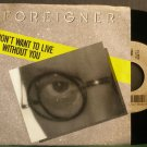 FOREIGNER~I Don't Want to Live Without You~Atlantic 89101 (Arena Rock)  45