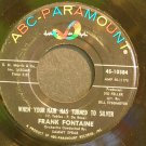 FRANK FONTAINE~When Your Hair Has Turned to Silver~ABC-Paramount 10384  45