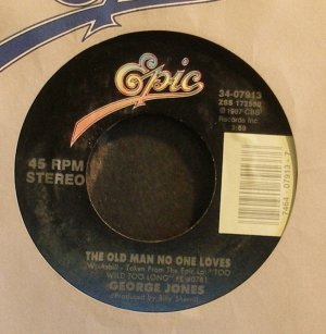 GEORGE JONES~The Old Man No One Loves~EPIC 07913 VG+ 45