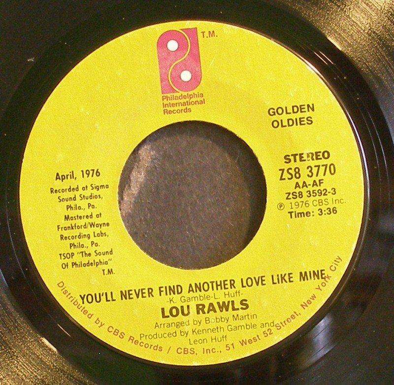 youll never find another love like mine cover You'll never find another love like mine was featured in the season nine episode, wing the original recording of lou rawls was sped up and pitch shifted to sound similar to a fourth grader.