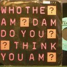 BOYS DON'T CRY~Who the am Dam Do You Think You am?~Atlantic 89196 (Synth-Pop) Promo VG+ 45