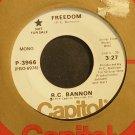 R.C. BANNON~Freedom~Capitol 3966 Promo VG+ 45