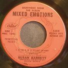 SUSAN BARRETT~Selections From the Album Mixed Emotions~Capitol 1244 Promo 45 EP